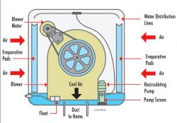 How Evaporative Coolers Move Air